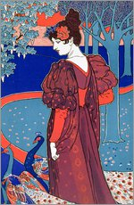 Gallery print  Woman with Peacocks, Stampe Modern - Louis John Rhead