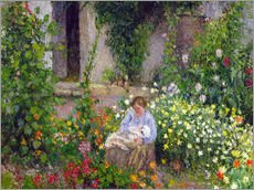 Wall sticker  Mother and Child in the Flowers - Camille Pissarro