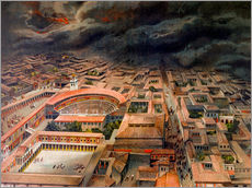 Gallery print  The eruption of Vesuvius in Pompeii, 79 BC. - Antonio Niccolini