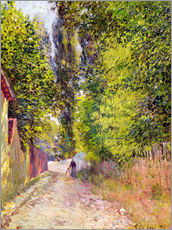 Wall Sticker  Landscape near Louveciennes - Alfred Sisley