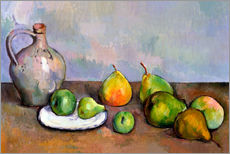 Gallery print  Pitcher and Fruit - Paul Cézanne