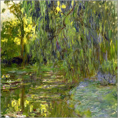 Wall sticker  Weeping Willow, The lily pond in Giverny - Claude Monet