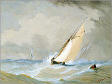 Gallery print  The Miranda comes in strong wind - Barlow Moore