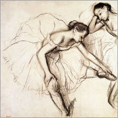 Wall sticker  Two dancers resting - Edgar Degas