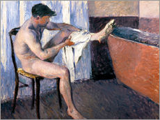 Gallery print  Man drying his leg - Gustave Caillebotte
