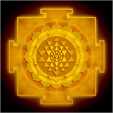 Wall Sticker  Golden Sri Yantra - Dirk Czarnota