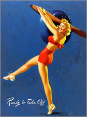 Wall Stickers  Pin Up - Ready to Take Off - Al Buell