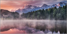 Wall sticker  Sunrise before Alps Panorama Karwendel - Andreas Wonisch