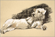 Wall sticker  Terrier - Cecil Charles Windsor Aldin