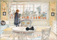 Gallery print  Flowers on the windowsill - Carl Larsson