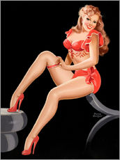 Wall sticker  Pin Up in Red - Peter Driben