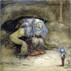 Wall sticker  The Troll and the Boy - John Bauer