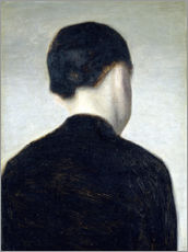 Wall Sticker  Seated Figure, Seen from Behind (Anna Hammershøi) - Vilhelm Hammershøi