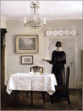 Wall Sticker  Interior with Lady Carrying Tray - Carl Holsøe