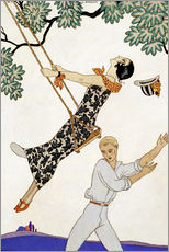 Wall sticker  The Swing, 1920s - Georges Barbier