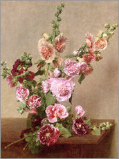 Wall sticker  Hollyhocks - Henri de Fantin-Latour