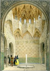 Wall sticker  The Hall of the Abencerrages, the Alhambra, Granada, 1853 - Léon Auguste Asselineau