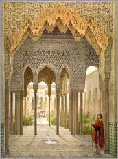 Wall sticker  The Court of the Lions, the Alhambra, Granada, 1853 - Léon Auguste Asselineau