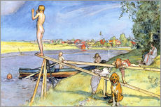 Gallery print  A Pleasant Bathing Place - Carl Larsson