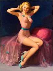 Wall sticker  Pin Up in Pink - Art Frahm