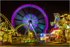 Gallery print  Ferris wheel at the Hamburger Dom funfair funfair - Dennis Stracke