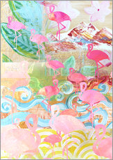 Gallery print  Flamingo Collage - GreenNest