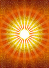 Wall sticker  Rays of hope - orange - Lava Lova