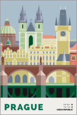 Wall sticker prague skyline