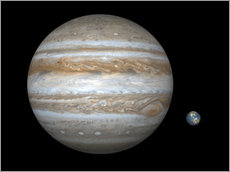 Gallery print  gas giant Jupiter and Earth - Walter Myers