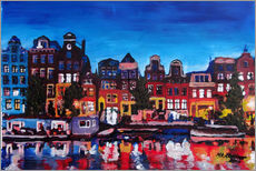 Gallery print  Amsterdam Channel at Night - M. Bleichner