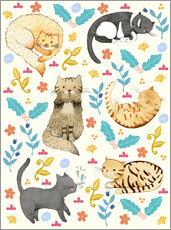 Wall sticker Cat family II