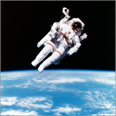 Foam board print  Astronaut Bruce McCandless with propeller backpack