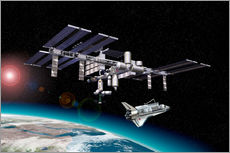 Wall sticker  Space Station in Earth orbit - Leonello Calvetti
