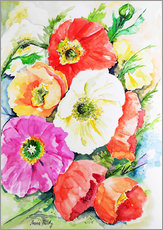 Gallery print  Poppies 3 - Maria Földy