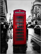 Gallery print  Red telephone booth in London - Edith Albuschat