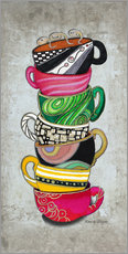 Gallery print  Stacked Hot Cuppa Collection 2 - Megan Duncanson