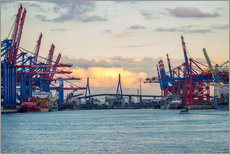 Gallery Print  Container terminal Hamburg Harbour - Dennis Stracke
