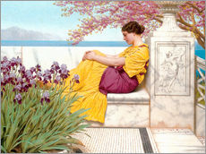 Gallery Print  Under The Blossom That Hangs On The Bough - John William Godward