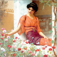 Gallery Print  Summer Flowers - John William Godward