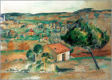 Wall Stickers  Provence hills - Paul Cézanne