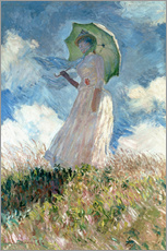 Wall sticker  Woman with parasol turned to the left - Claude Monet