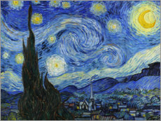 Aluminium print  Starry night - Vincent van Gogh