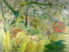 Gallery Print  Tiger in a tropical storm - Henri Rousseau