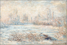Gallery Print  Frost near Vetheuil (Le Givre) - Claude Monet