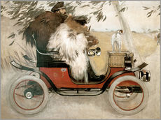 Gallery print  Casas and Romeu in an automobile - Ramon Casas i Carbo
