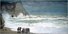 Wall Stickers  Rough Sea at Étretat - Claude Monet
