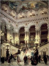 Gallery print  Stairs of the Opera in Paris - Louis Beraud