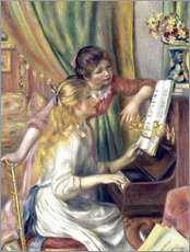 Gallery print  Two girls at the piano - Pierre-Auguste Renoir