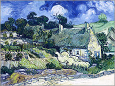 Wall Stickers  Thatched cottages at Cordeville - Vincent van Gogh