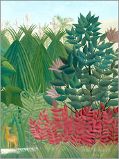 Gallery print  The waterfall (detail) - Henri Rousseau